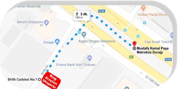 İstanbul Gelişim Meslek Yüksekokulu Metrobüs ile Ulaşım