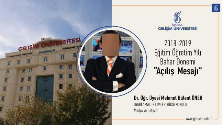 Dr. Öğr. Üyesi Mehmet Bülent ÖNER