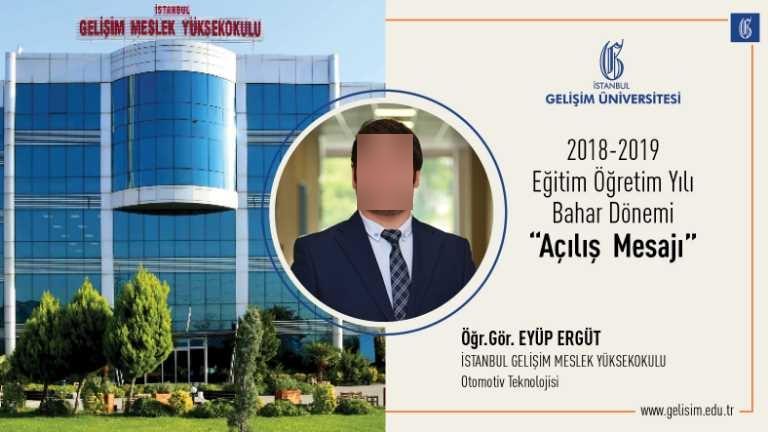 2018-2019 Bahar yarıyılı İstanbul Gelişim Meslek Yüksekokulu