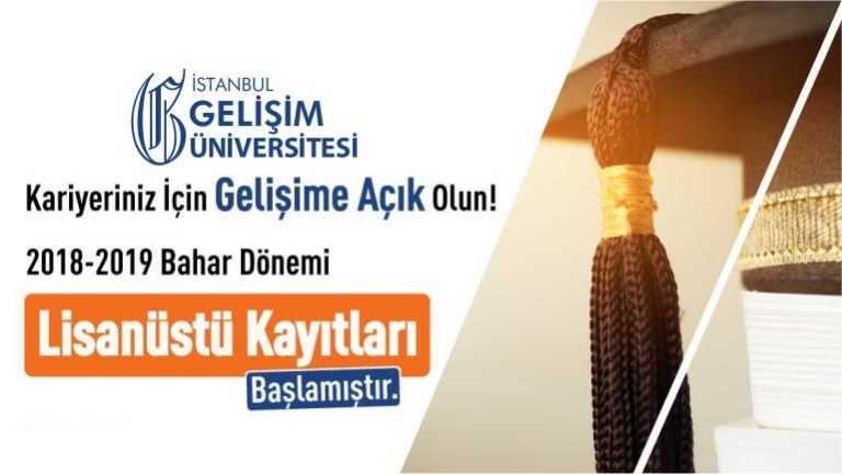 İstanbul Gelişim Meslek Yüksekokulu DGS ile Lisans bitiren öğrencilerimize yüksek lisans imkânı