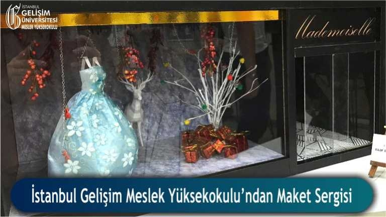 İstanbul Gelişim Meslek Yüksekokulu İç Mekan Tasarımı Maket Sergisi