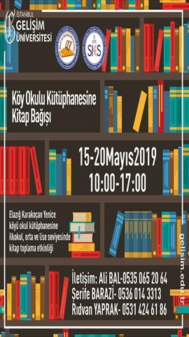 Köy Okulu Kütüphanesine Kitap Bağışı