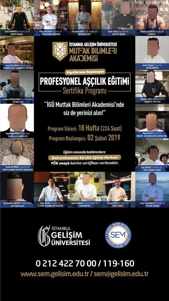 İGÜ Mutfak Bilimleri Akademisi Profe...