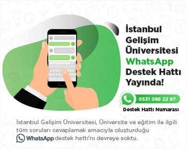 İstanbul Gelişim Üniversitesi Whatsapp Hattı