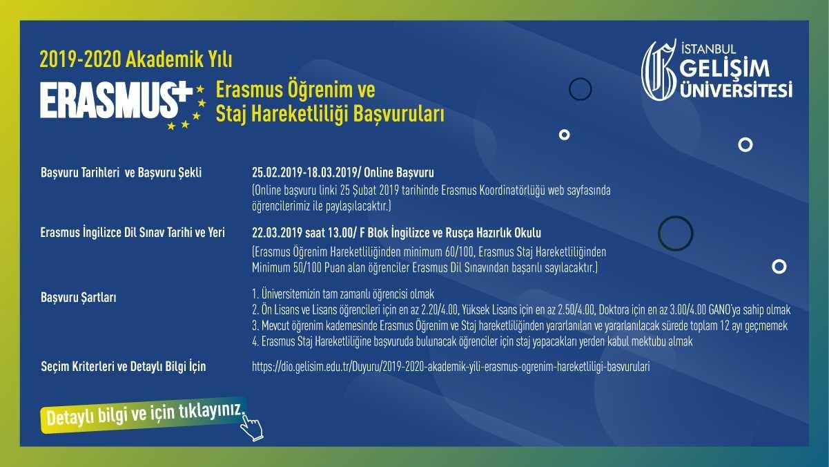 Erasmus Staj Hareketliliği