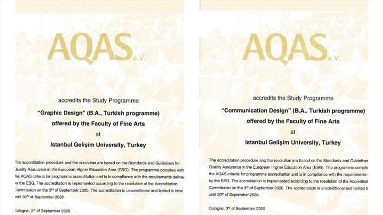 igü iletişim ve tasarımı grafik tasarımı AQAS akreditesyon aldı