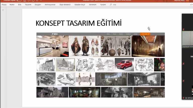 Bilgisayar Oyun Tasarımı Sektöründe Konsept Tasarımı online konferans