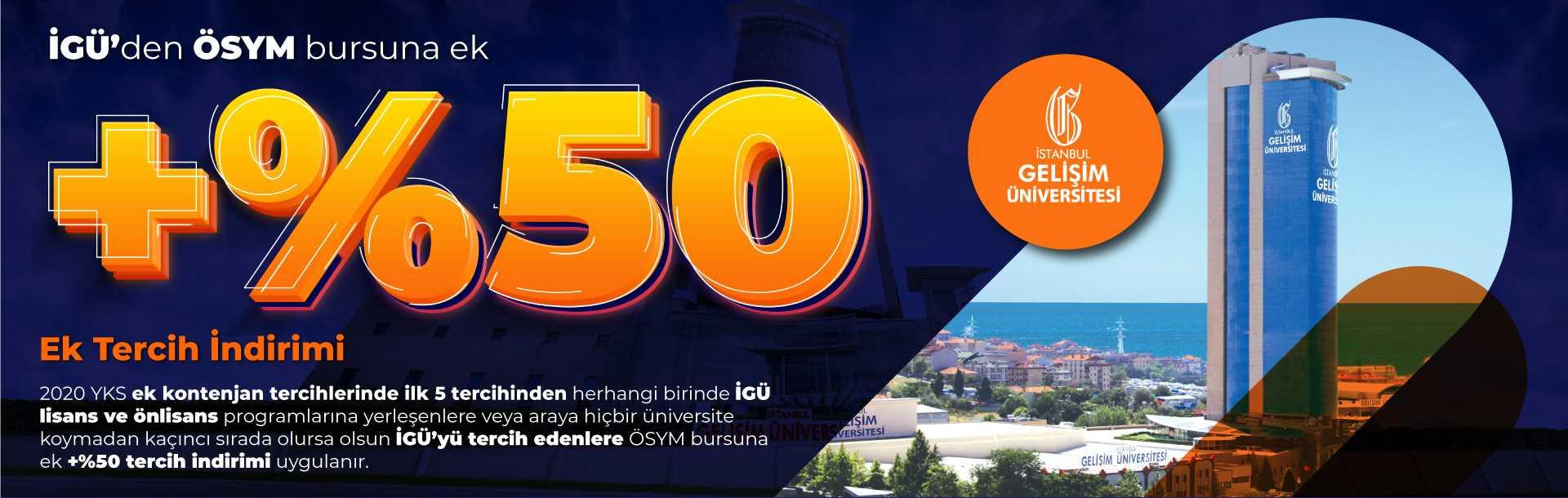 Ek Tercihler - 2020 - İstanbul Gelişim Üniversitesi