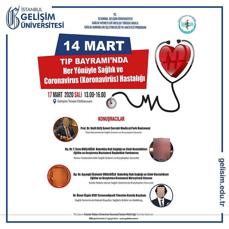 14 Mart Tıp Bayramı'nda Her Yönüyle Sağlık ve Coronavirus(Koronavirüs) Hastalığı