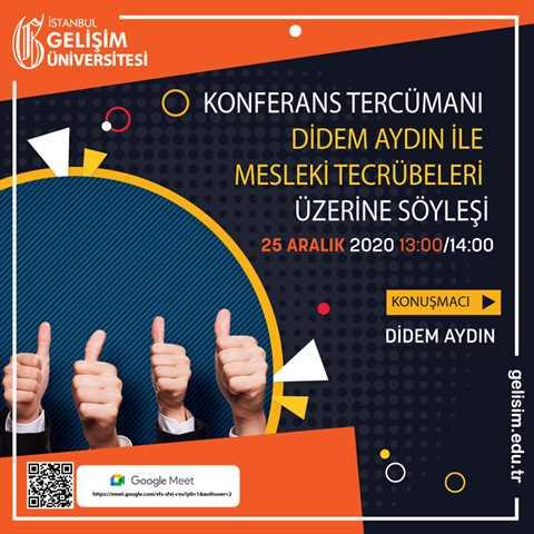 Konferans Tercümanı Didem Aydın ile Mesleki Tecrübeleri Üzerine Söyleşi
