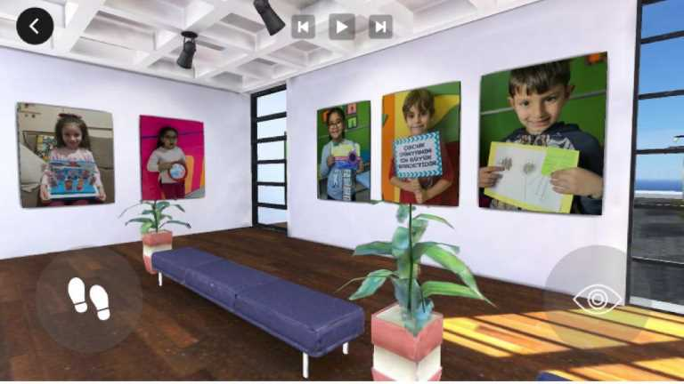 The art exhibition of the little ones will be visited in virtual environment this year