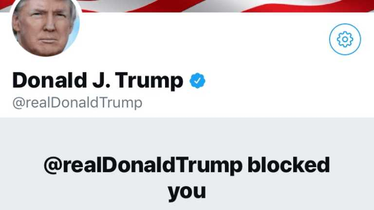 Trump engellendi