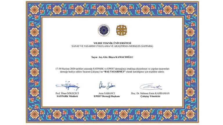 Arş. Gör. Büşra Kamacıoğlu Epos7 Derneği ve SATPARK ile Ortak Düzenlenen Tasarım Çalıştayı Sürecini Anlattı