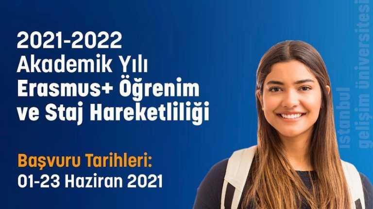 2021-2022 Akademik Yılı Erasmus+ Öğrenim ve Staj Hareketliği