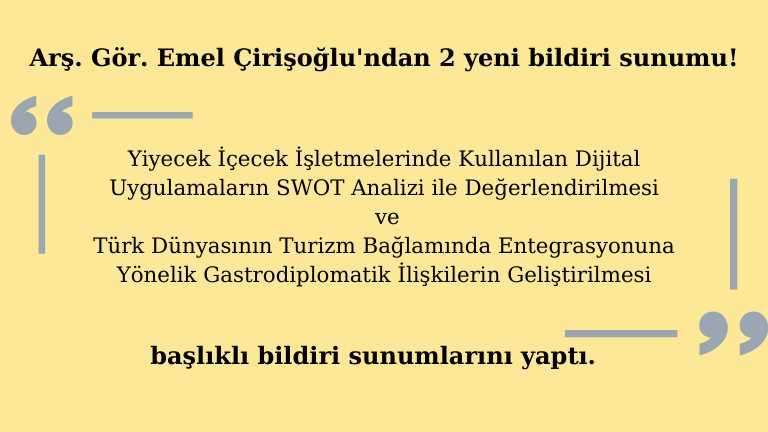 Emel Çirişoğlu Bildiri Sunumu