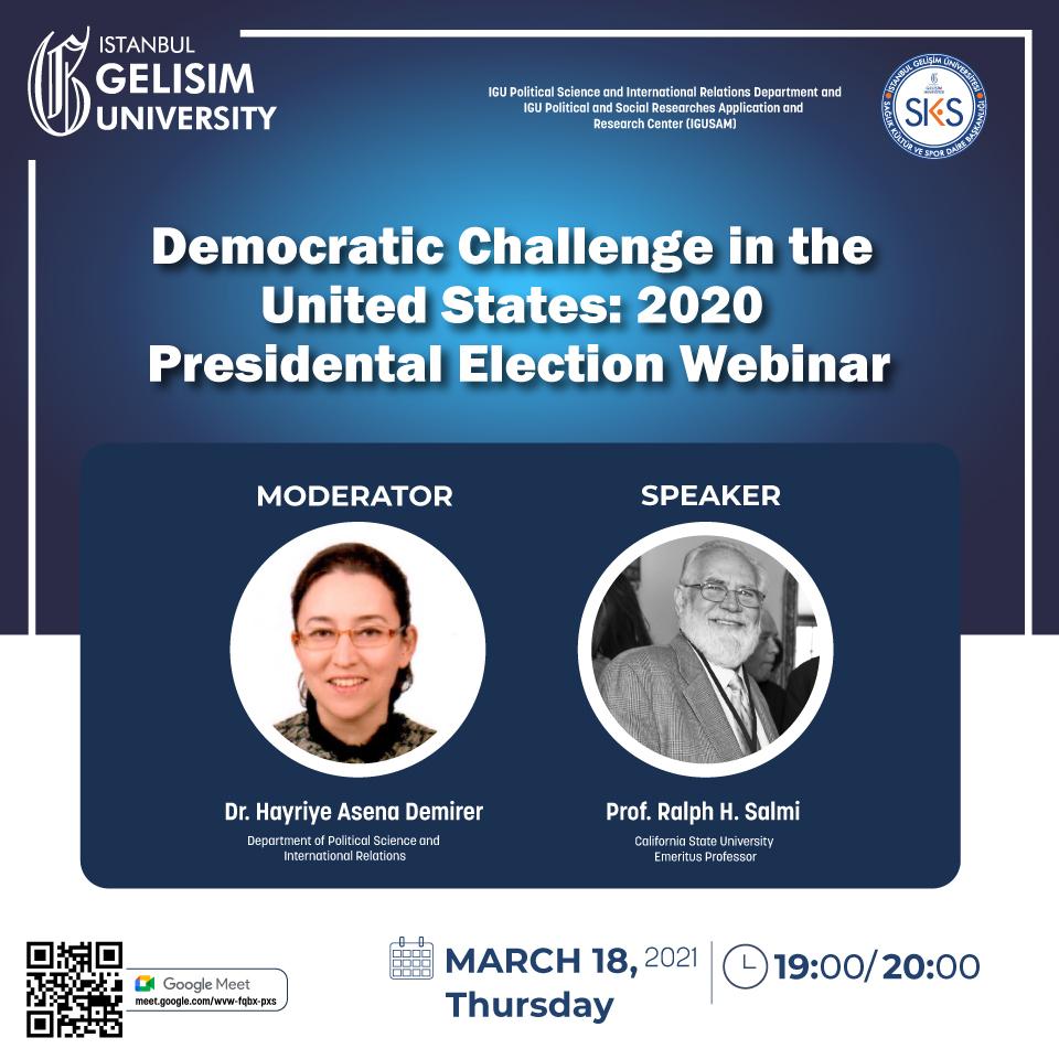 Webinar: Democratic Challenge in the United States: 2020 Presidental Election