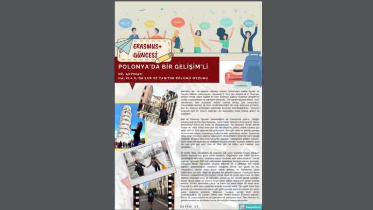 Mezun Öğrencimiz Nil Akpınar, Fakültemiz Bülteni SosyoCom'da Erasmus Anılarını Paylaştı