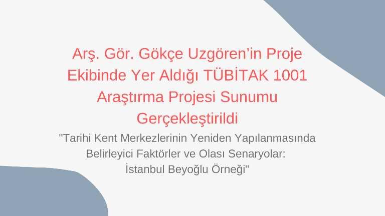 tubitak 1001 araştırma proje toplantıları