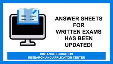 Answer Sheets for the Written Exams has been updated!