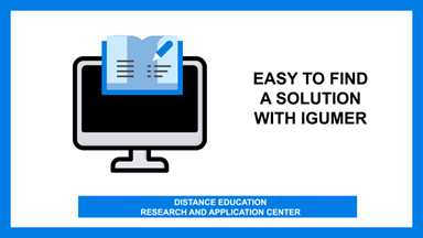 Easy to find a solution with IGUMER