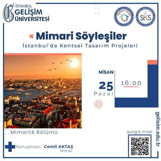 İstanbul'da Kentsel Tasarım Projeleri - Mimari Söyleşiler