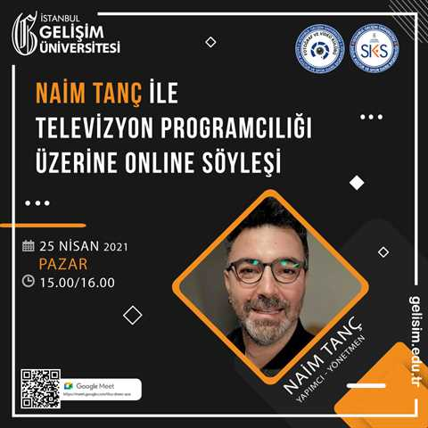 Naim Tanç ile Televizyon Programcılığı Üzerine Online Söyleşi