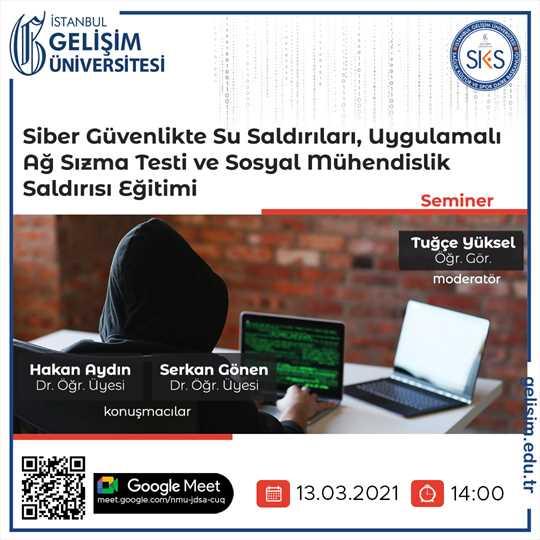 Siber Güvenlikte Su Saldırıları Ağ Sızma Testi ve Sosyal Mühendislik Saldırısı Eğitimi