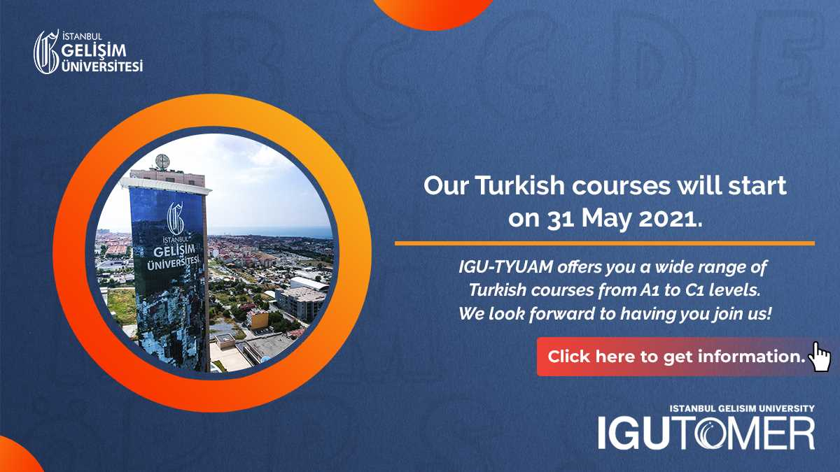 Turkish Courses Announcement - English Pop-up