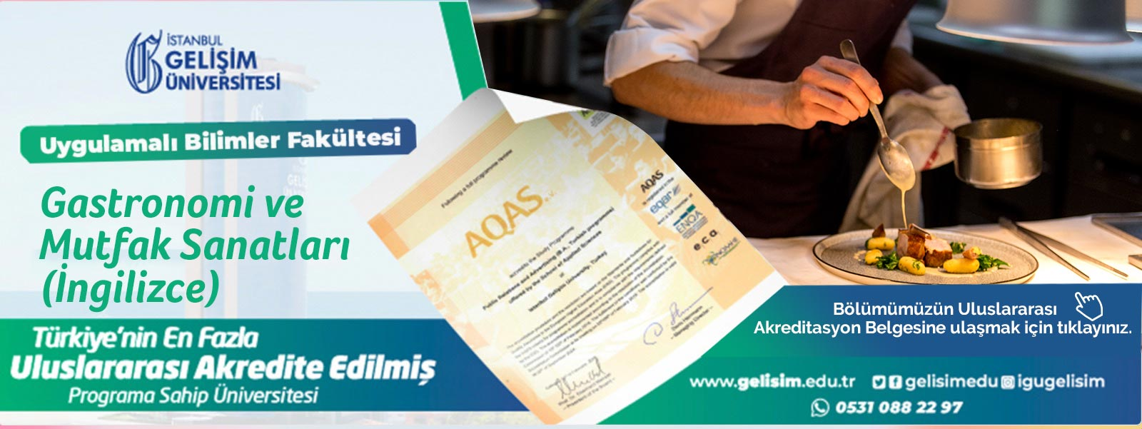 GASTRONOMİ VE MUTFAK SANATLARI (İNGİLİZCE)  - Accreditation