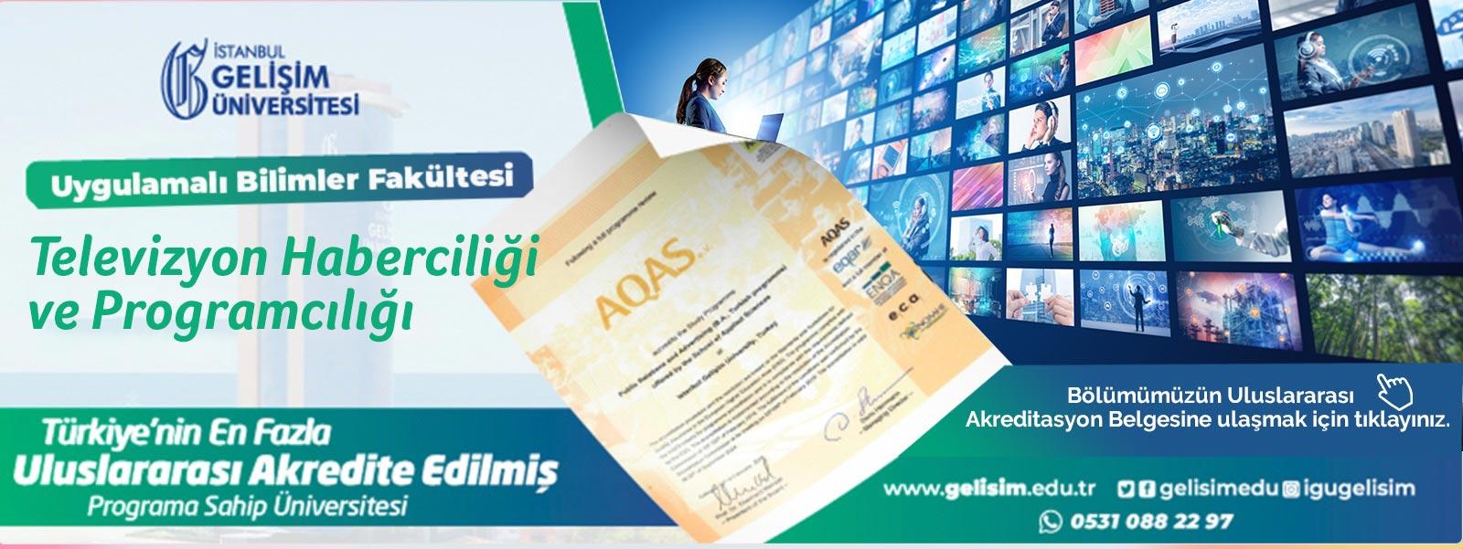 TELEVİZYON HABERCİLİĞİ VE PROGRAMCILIĞI  - Accreditation